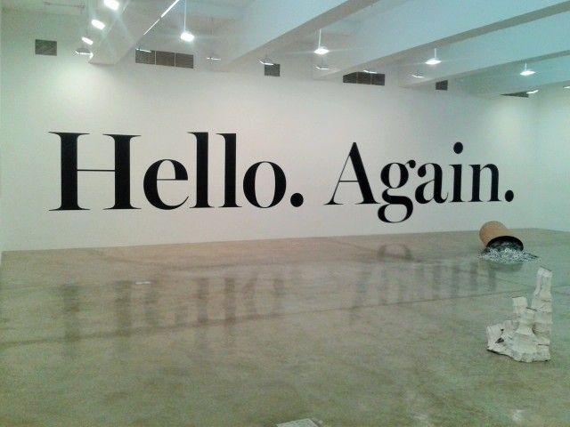 Hello. Again. Haim Steinbach. 2013.