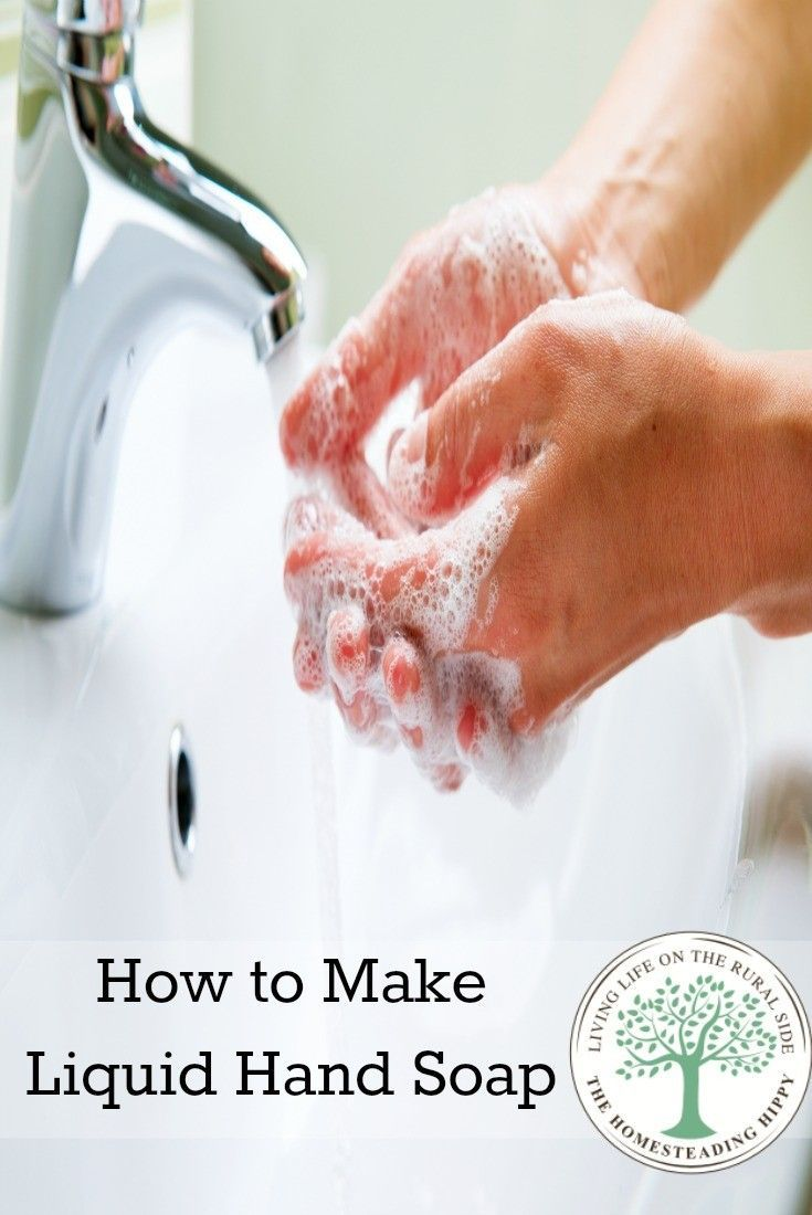 Making liquid soap for body wash, hand washing or even shampoo is simple and easy to do with only a few ingredients. This liquid hand soap is perfect for using up scraps of old bar soaps!~The HomesteadingHippy #homesteadhippy #fromthefarm #diy #essentialoils