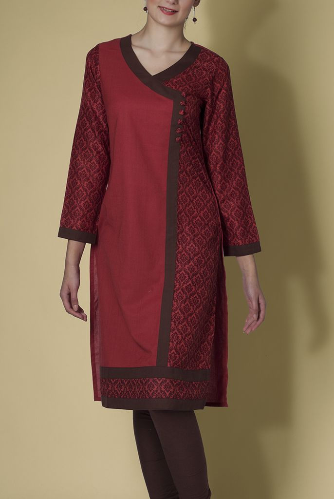 MAGADHI V NECK LONG KURTA http://ekmatra.com/product/magadhi-v-neck-long-kurta/