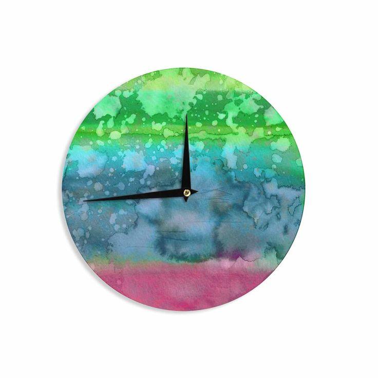 "Ebi Emporium ""California Surf 1"" Green Teal Wall Clock"
