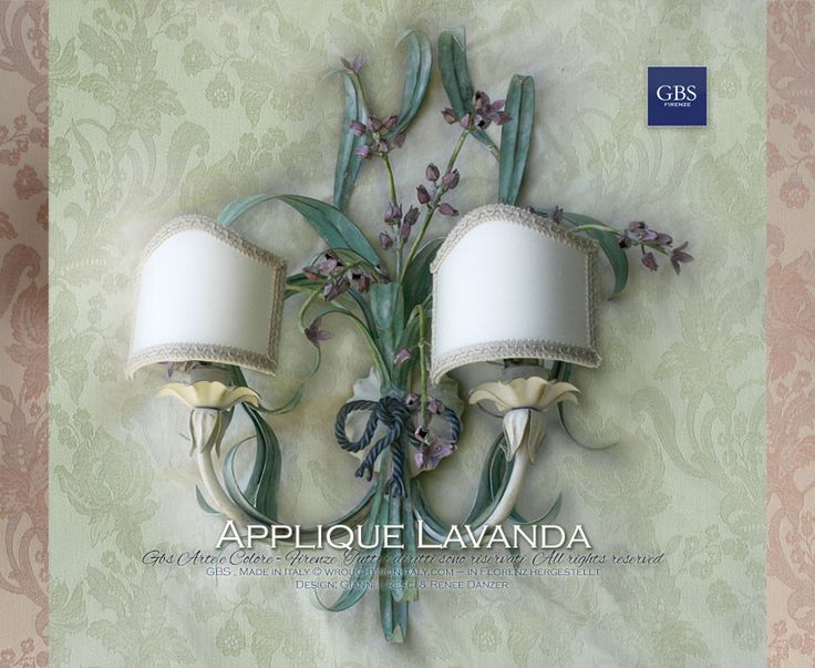 Applique Lavanda - Wall Light. Lavender