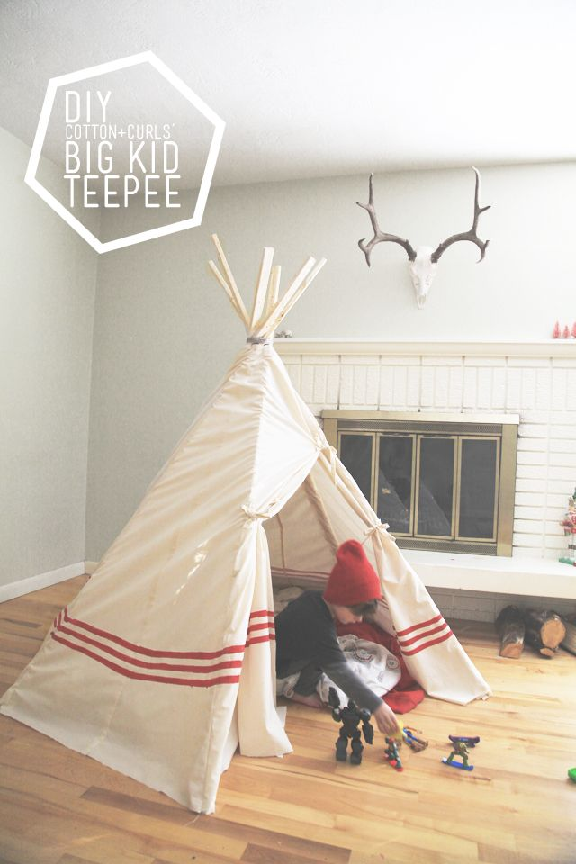 DIY big kid teepee (a $22 project!) for 7th day of XMAS tutorials - C&C