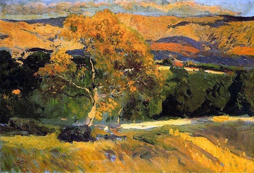 Joaquin Sorolla Bastida - Yellow tree, The Farm