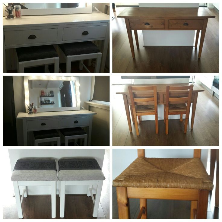 Make up tafel met lampenspiegel