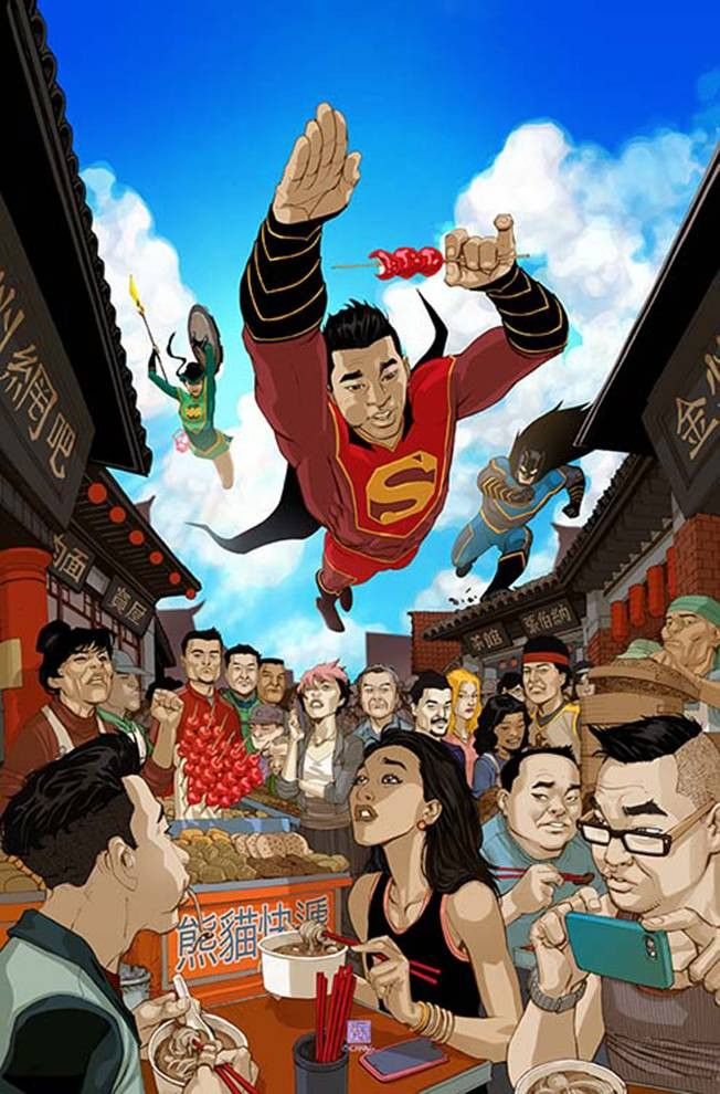 """DC COMICS (W) Gene Luen Yang (A) Viktor Bogdanovic, Richard Friend (CA) Bernard Chang """"Made in China"""" part two! The New Super-Man must face off against the Justice League of China? When Kenan Kong was"""