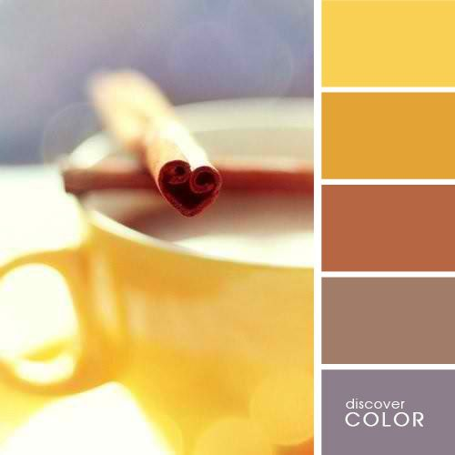 discover COLOR | coffee with cinnamon