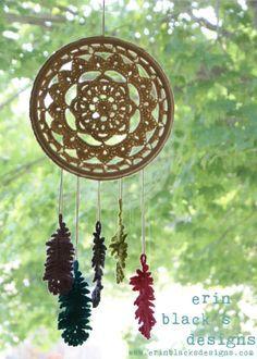 PATRÓN de Crochet DIY soñando con plumas Dreamcatcher por Midknits                                                                                                                                                                                 Más