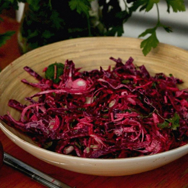 Try this Beetroot and Broad bean slaw recipe by Chef Darren Robertson. This recipe is from the show Charcoal Kitchen.