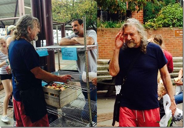 Robert Plant...out shopping/ 2 pics