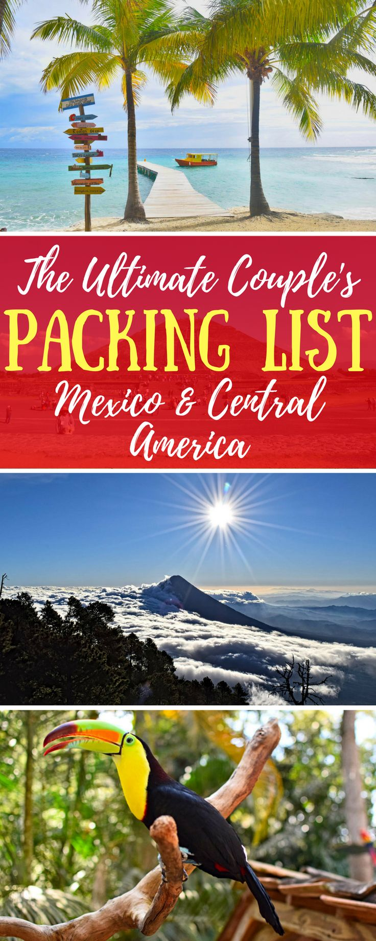 The only packing list for Central America and Mexico that you'll ever need! Perfect for female travelers, male travelers, and couple travelers. who want to backpack in Mexico and Central America!