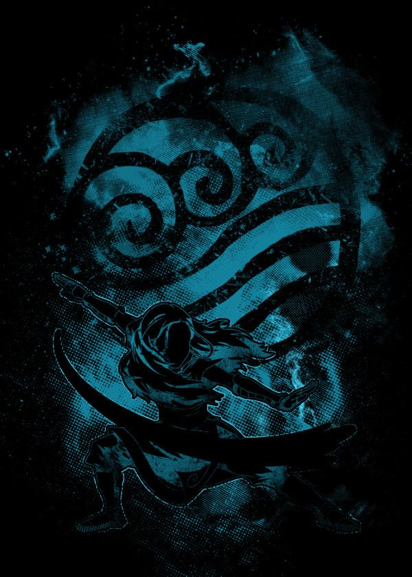 Space Katara Anime Manga Poster Print Metal Posters Avatar The Last Airbender Art Avatar Aang Avatar Airbender