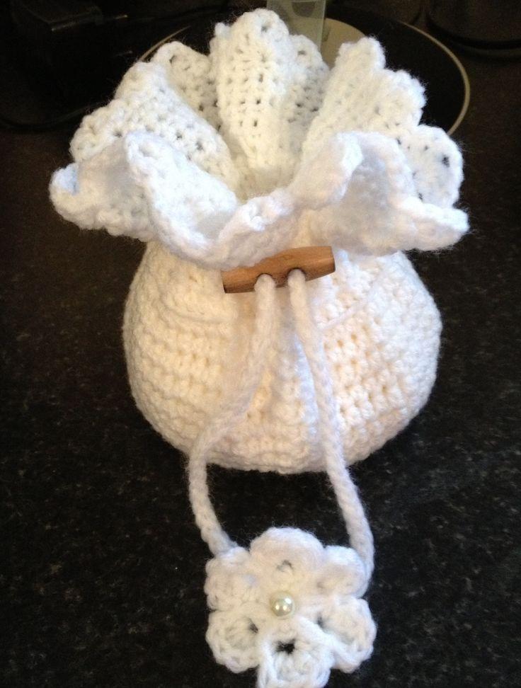 White communion bag