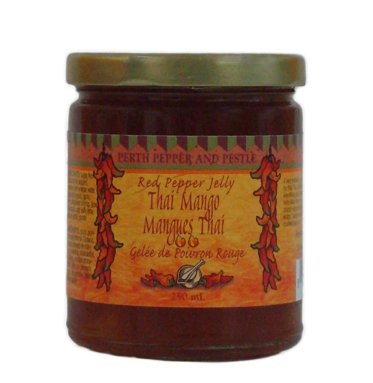 and Pestle Thai Mango Red Pepper Jelly: Mildy hot, tart and mango ...