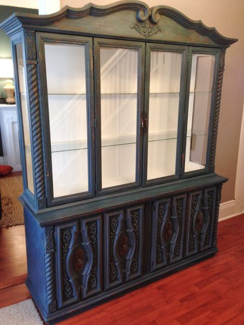 Repurposed Gems Homestead Blue Buffet Hutch