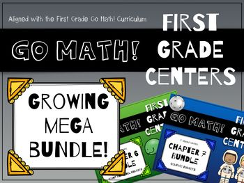 Go Math! First Grade Centers GROWING BUNDLE! I'm thrilled to bring to you this growing MEGA BUNDLE of centers that support the first grade Go Math! curriculum.    Currently (as of 3/31/17), this download contains centers for Chapter 6: Count and Model Numbers and Chapter 7: Compare Numbers. New chapters will be added as they become available.