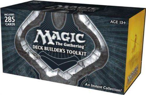 Magic: the Gathering Deck Builder's Toolkit 2012 (MTG) The Deck Builder's Toolkit gives any collection a major boost with 225 semi-random cards and four 15-card booster packs - perfect for new players and players getting back into the game! Plus, they'll get a guide containing info on how to build their own customized deck. #cards #games #boystoys #kidstoys #sale $18.57 http://www.thinkfasttoys.com/Magic-Gathering-Deck-Builders-Toolkit/dp/B0089J89S4