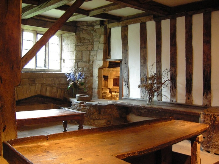 12th Century Medieval Kitchen   Haddon Hall Manor House   Derbyshire   UK