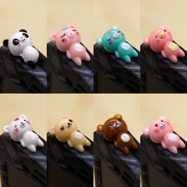 ==> [Free Shipping] Buy Best Cute 3D Cartoon Cat Bear Panda Anti Dust Plug lovely animal Earphone jack plug Audio Hole Jack Plug Cap for all mobile phones Online with LOWEST Price | 32780403258