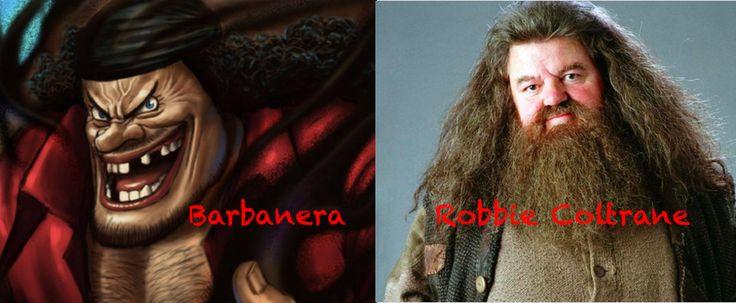 Blackbeard as Robbie Coltrane - One Piece