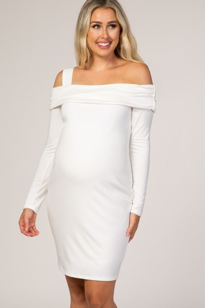 White Fitted Maternity Dresses White Maternity Dresses In 2020 White Maternity Dresses Fitted Maternity Dress Maternity Long Dress