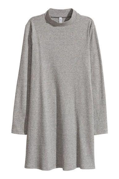 Sukienka z półgolfem - Czarny melanż - ONA   H&M PL