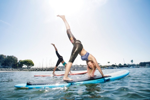 YOGAqua: Yoga meets Stand-Up Paddle-Boarding in Santa Monica, CA. $35 http://www.muchbetteradventures.com/profile/yogaqua