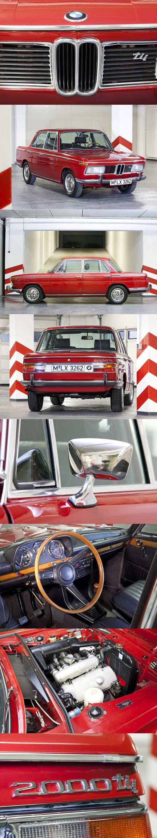 1969 BMW 2000 tii / Germany / red / 130hp / 1952pcs