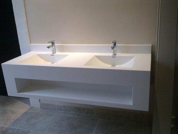 Wall-mounted washbasin / rectangular / Corian® / contemporary IMAGE.01 IMAGE