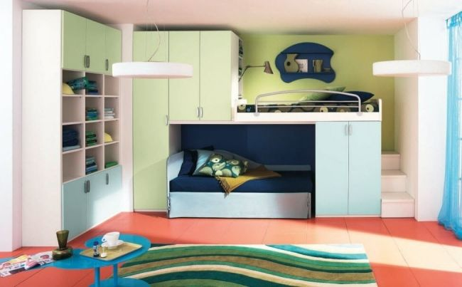 hochbett spielbett kinderzimmer corazzin group. Black Bedroom Furniture Sets. Home Design Ideas