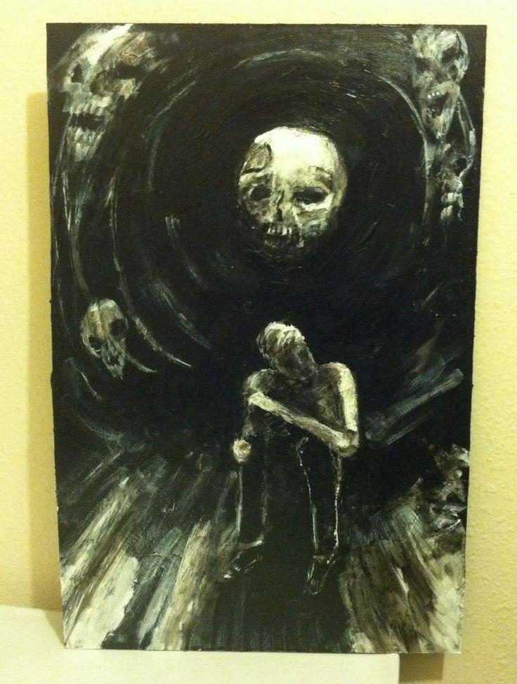 """Lunacy"" original art, 13""x20"" acrylic on masonite board, by jack larson #Abstract"