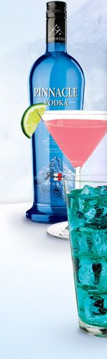 Pinnacle has 34 flavors of vodka, and they provide 9 mixed drink recipes per flavor