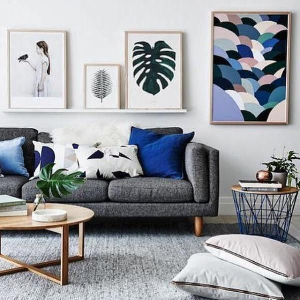 Superb Living Room Inspiration: How To Style A Grey Sofa