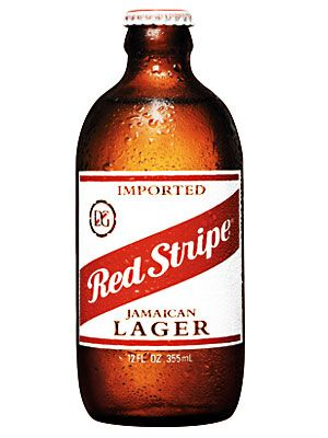 Red Stripe Lager - Other than bobsledding, this is the best thing to come out of Jamaica... And Bob Marley