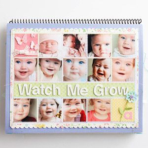 Baby Calendar featured in Scrapbooks Etc. designed by @Jenn L Perks using SRM Stickers and Baby's First Year Calendar.