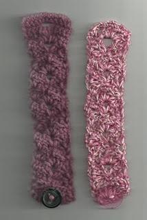 Lacy Fan Bracelet @ Treasures Made From Yarn, free crochet pattern