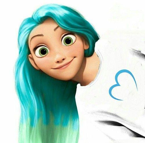 все рапунцель с разноцветными волосами картинки активная женщина