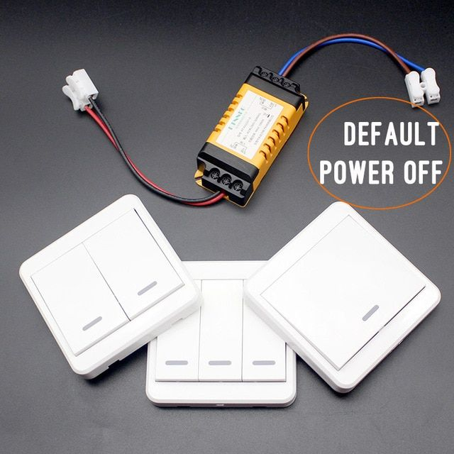 Default Off Wireless Light Switch Kit No Wiring Remote Control Timer Receiver For Lamps Fans Appliances Ceil Wireless Lights Wireless Light Switch Light Switch