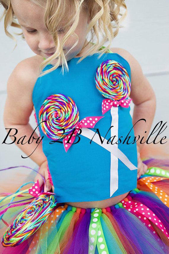 Jeunes filles Candyland Outfit Lollipop par Baby2BNashville sur Etsy
