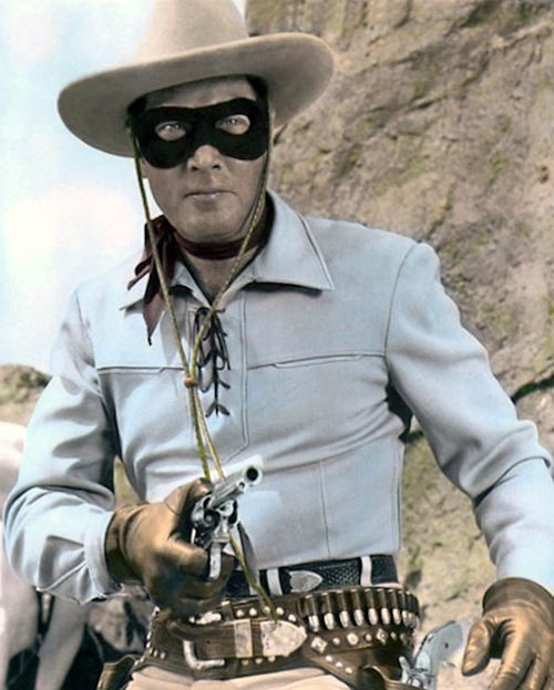 Dad and I watched this all the time together......Clayton Moore as The Lone Ranger (The Lone Ranger - 1949)