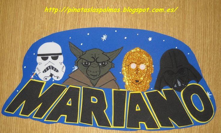 Piñatas Las Palmas: Nombre decorado con la Guerra de Las Galaxias