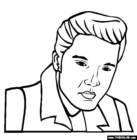 15 best Elvis coloring pages... images on Pinterest