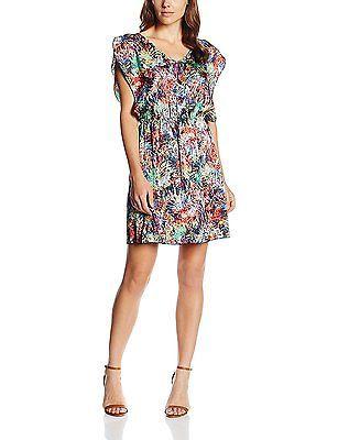Medium, Blue, Isabella Roma Women's Abito Arricciato in Vita Dress NEW