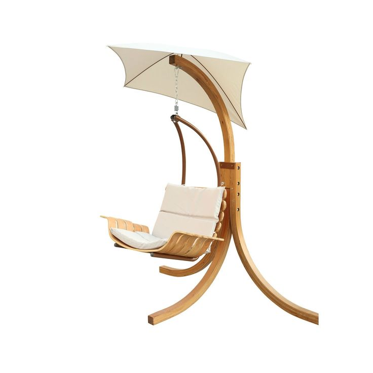 Contemporary Porch Swing Deck Patio Chair with Umbrella - Quality House