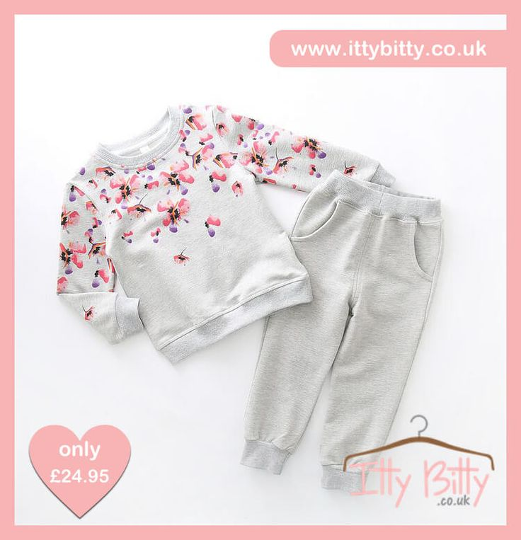 IN STOCK | AGE 3 & AGE 4   Shop here 👉🏻https://www.ittybitty.co.uk/product/itty-bitty-grey-flower-lazy-sunday-set/?utm_content=buffere553f&utm_medium=social&utm_source=pinterest.com&utm_campaign=buffer  🅿️ PayPal or 💳 Credit/Debit card 🔐Secure website #girls #tracksuit #play