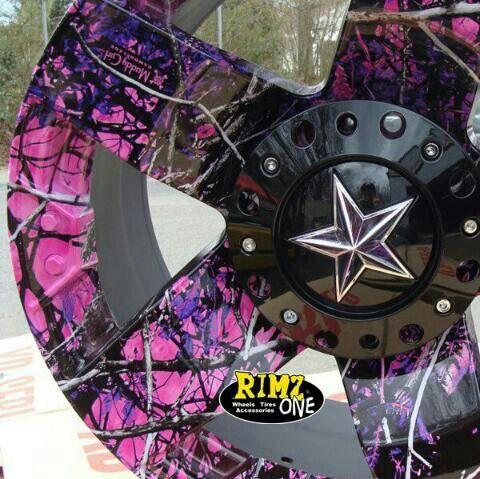 muddy girl camo rockstar rims..