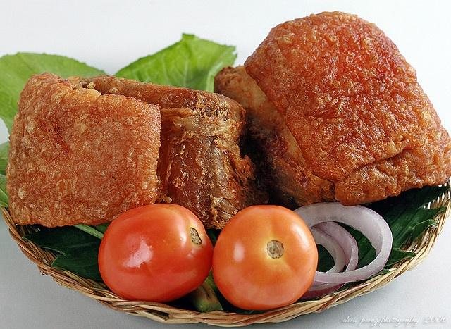 Bagnet - deep fried pork belly, Philippines