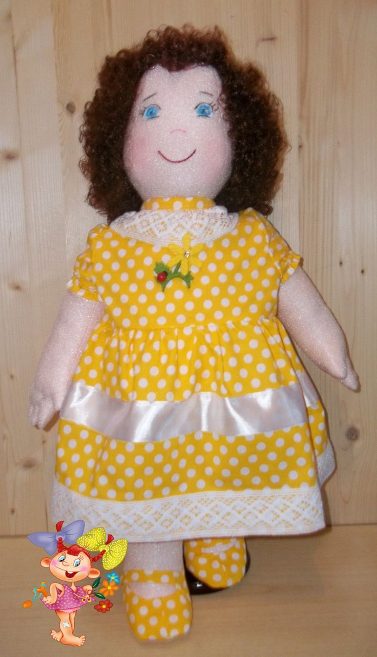 PDF Pattern - Cloth Doll Emily, a Soft Doll - Large Doll Sewing Pattern (Height 64cm) - Doll needle sculpture: hands, foots. from Rosselladolls on Etsy Studio