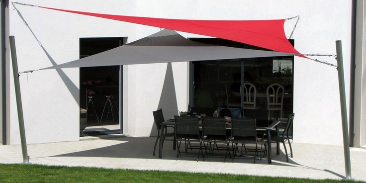 53 best shade sails images on pinterest backyard ideas backyard shade and patio ideas. Black Bedroom Furniture Sets. Home Design Ideas