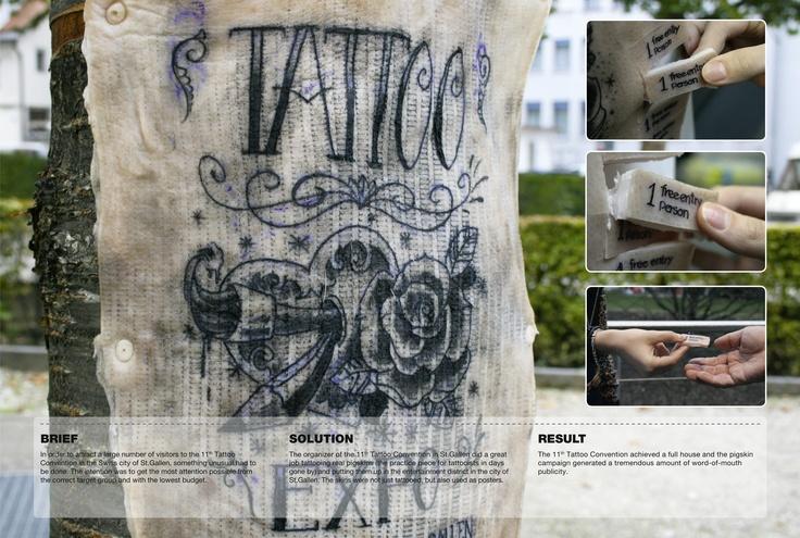 Pigskin tattoo poster advertising by Agentur am Flughafen