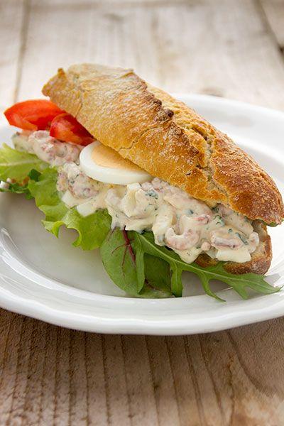 Broodje met garnalen